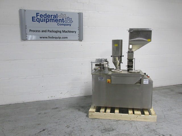 CAPSUGEL CAPSULE FILLER, MODEL CAP8 Capsule filler sold by FEDERAL EQUIPMENT CO.