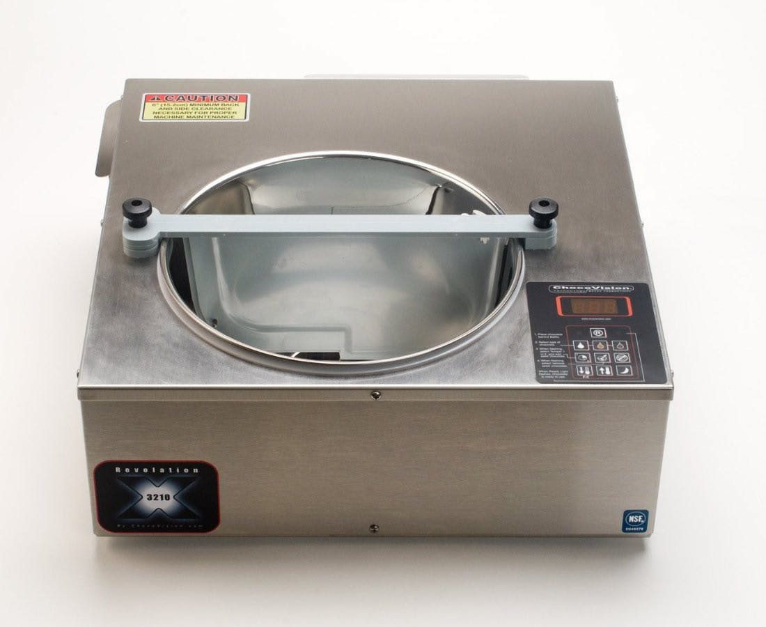Chocovision Revolation X3210 (Rev X) Temperer Commercial Chocolate Tempering Machine - sold by Chocolate Tempering Machines .com