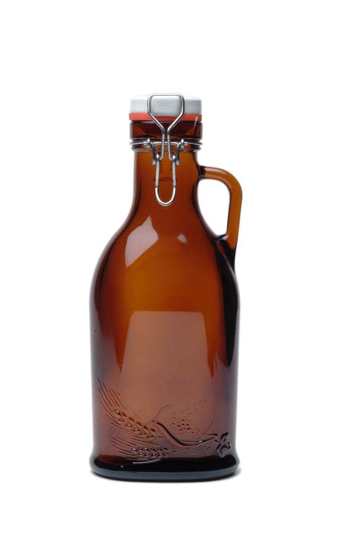 #900 Single 1L Flip-top Growler with Glass Handle Growler sold by Tote Glass