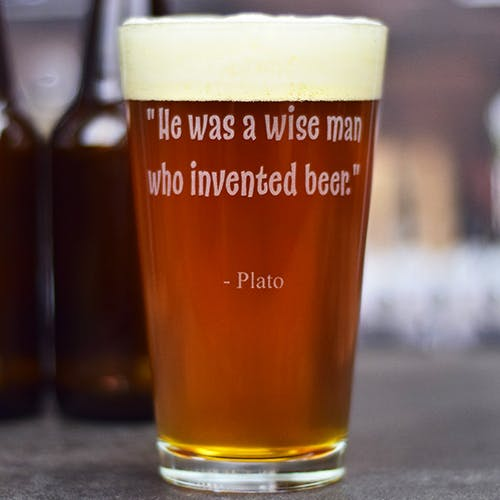 Engraved Pint Glass. - 16 oz. Pint Glasses - sold by Glass With a Twist