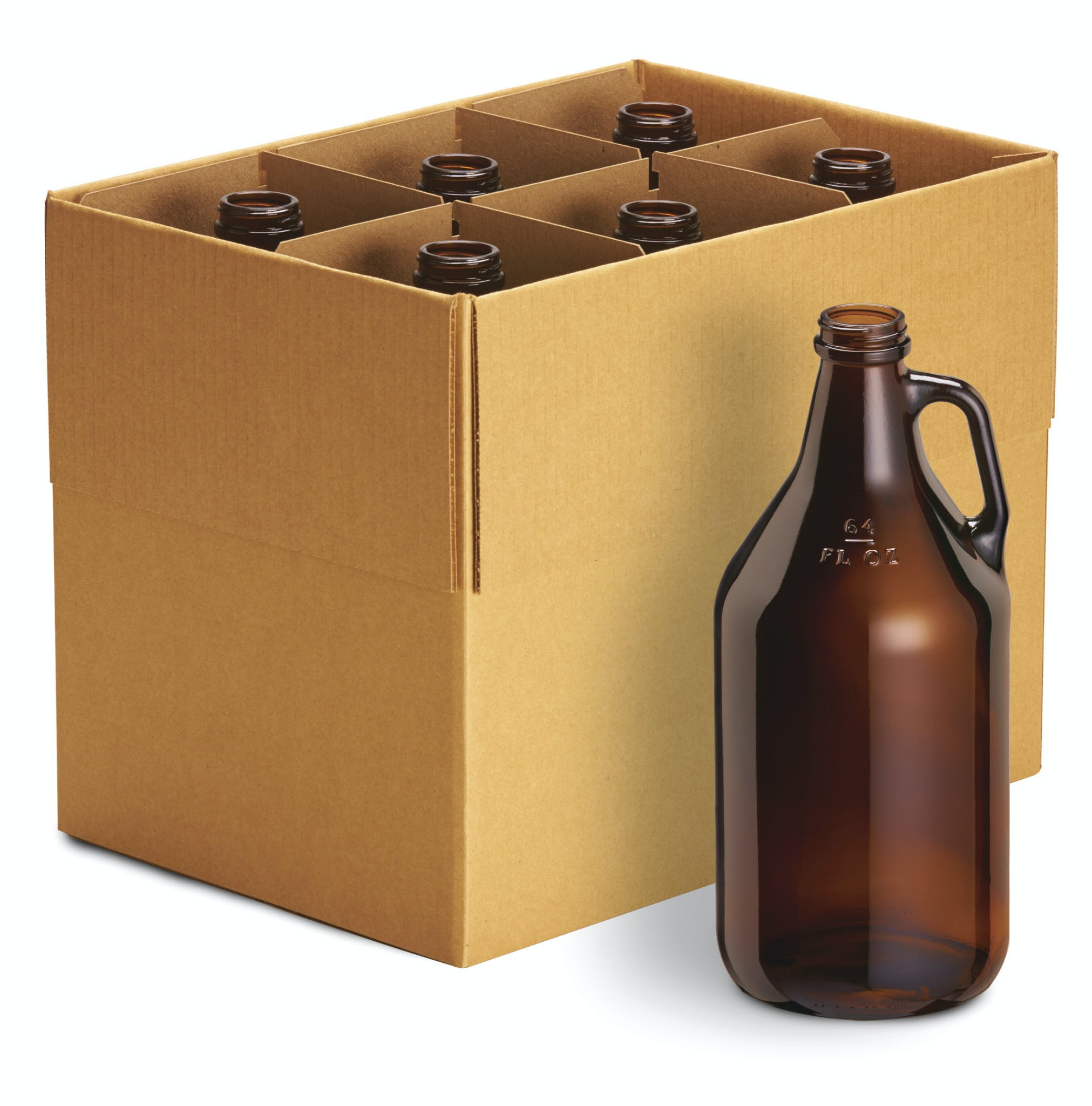 64 Ounce Glass Growlers in Cases Growler sold by BuyOurBottles.com