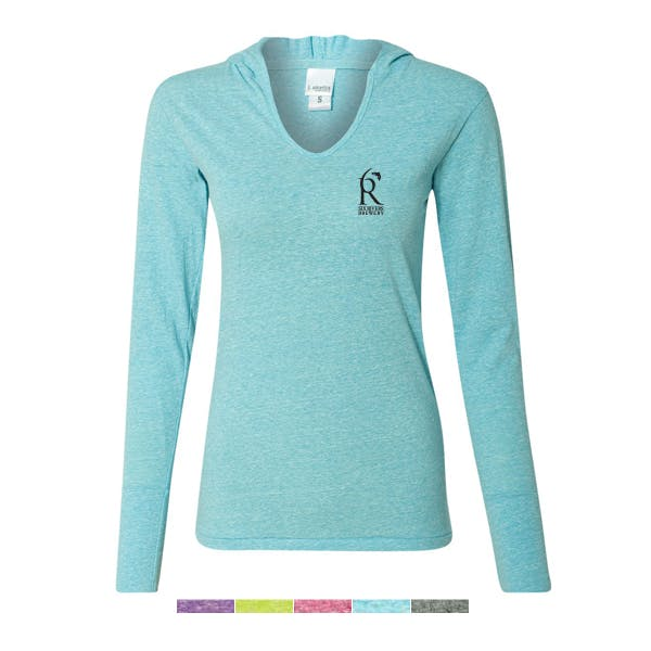 J. America Ladies Twisted Slub Jersey Pullover Tee Promotional shirt sold by MicrobrewMarketing.com