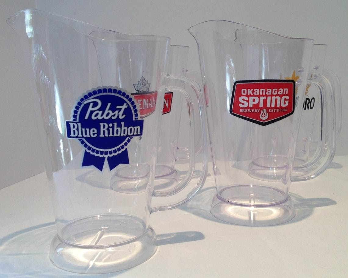 Clear Draft Beer Pitchers Beer pitcher sold by Think Drink Inc.
