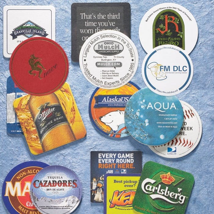 Coasters Collection - Full Color Drink coaster sold by Freedom Branding