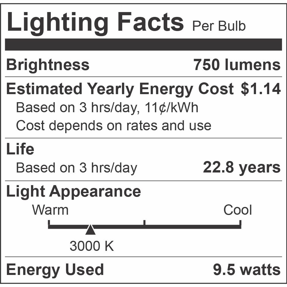 Euri Lighting 9.5W A19 Directional LED Light Bulb, Pack of 6 - sold by RelightDepot.com