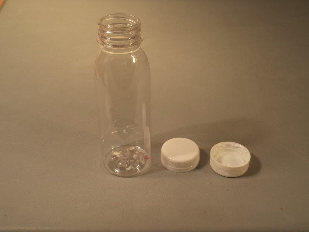 8oz bottle - 8oz Round Bottle - sold by Crystal Vision Packaging Systems