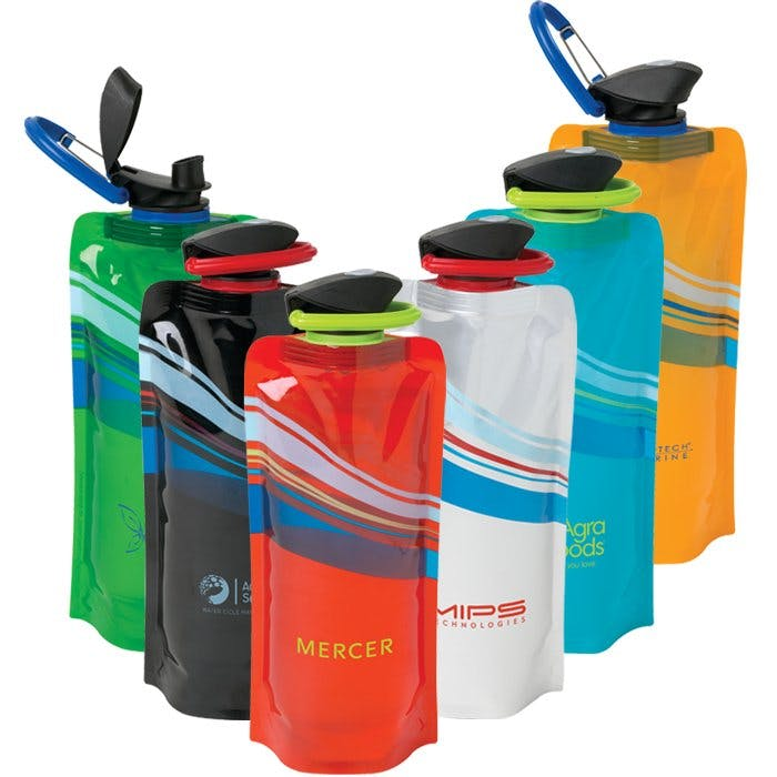 24 Oz. Foldable Water Bottle (Item # IFGPP-JLLZI) Promotional water bottle sold by InkEasy