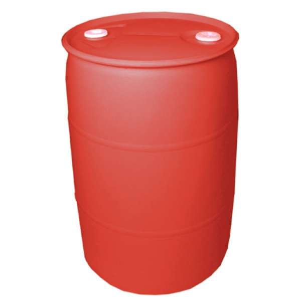55 Gallon Closed Head Red Plastic Drum Drums BASCO