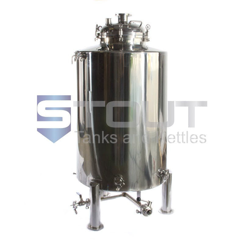 stainless steel pressure gauge Bright tank sold by Stout Tanks and Kettles