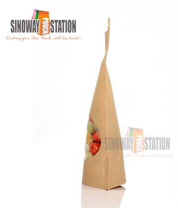 Natural Kraft Windowed - sold by sinowaypouchstation.com,LLC
