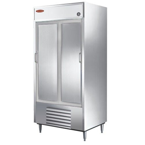 "Universal RIC39SC-S - 39"" Stainless Steel Sliding Door Reach In Refrigerator Commercial refrigerator sold by Elite Restaurant Equipment"