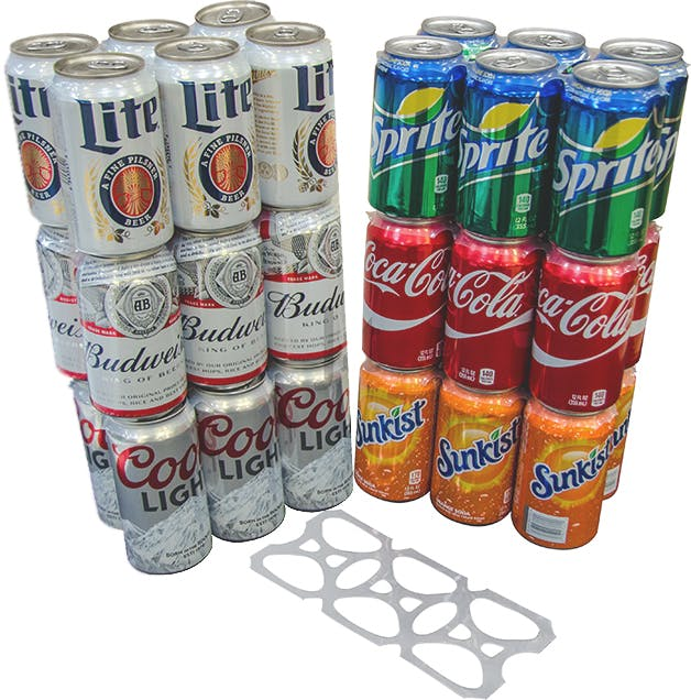 Six Pack Rings - 12oz Cans - 500 Count Pre-Cut Stacks Can carrier ring sold by Jay's Import & Wholesale