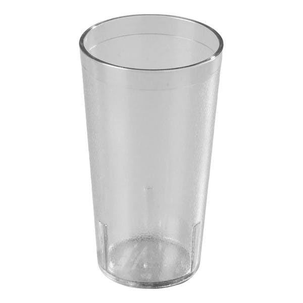16 oz. Clear Plastic Pebbled Stacking Tumbler