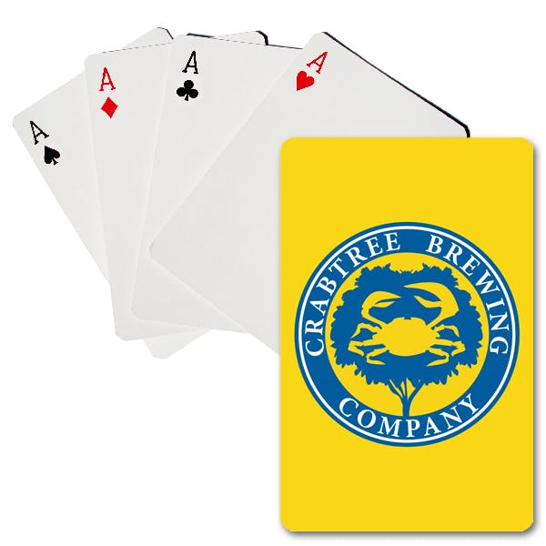 Two Color Premium Plastic-Coated Playing Cards Promotional product sold by MicrobrewMarketing.com