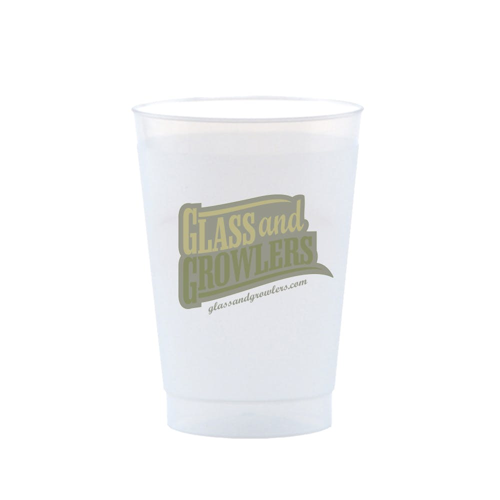 Frost Flex Cup 8 Ounce Plastic cup sold by Glass and Growlers