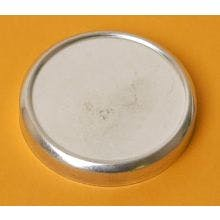 3 Ounce Flat Round Top - Seamless Tin Can Metal tins sold by BASCO