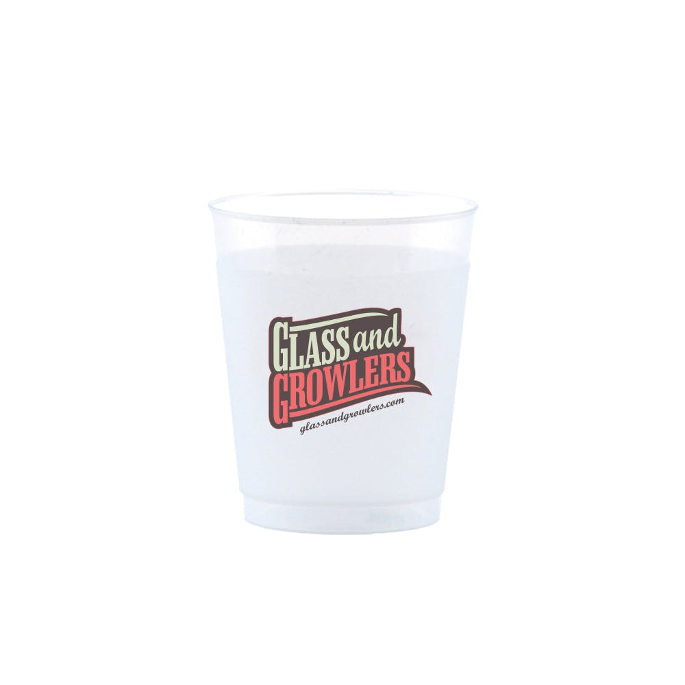 Frost Flex Cup 5 Ounce Plastic cup sold by Glass and Growlers