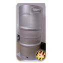 "NEW! 1/4 Barrel Commercial Keg with Sankey ""D"" Spear. - Keg sold by All Safe Global, Inc."