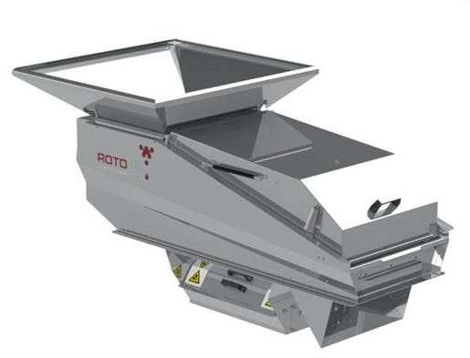 Roto Destemmer with crushing rollers Grape crusher/destemmer sold by Scott Laboratories