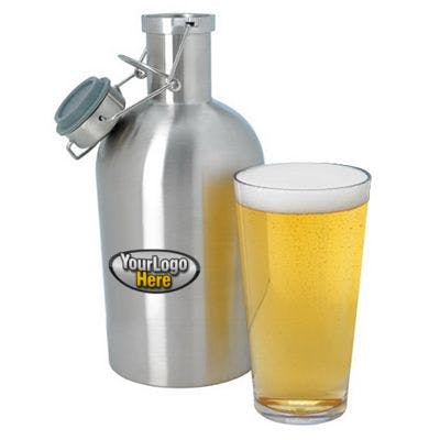 Stainless Steel Growler 64 oz Koozie sold by Worldwide Ticket and Label