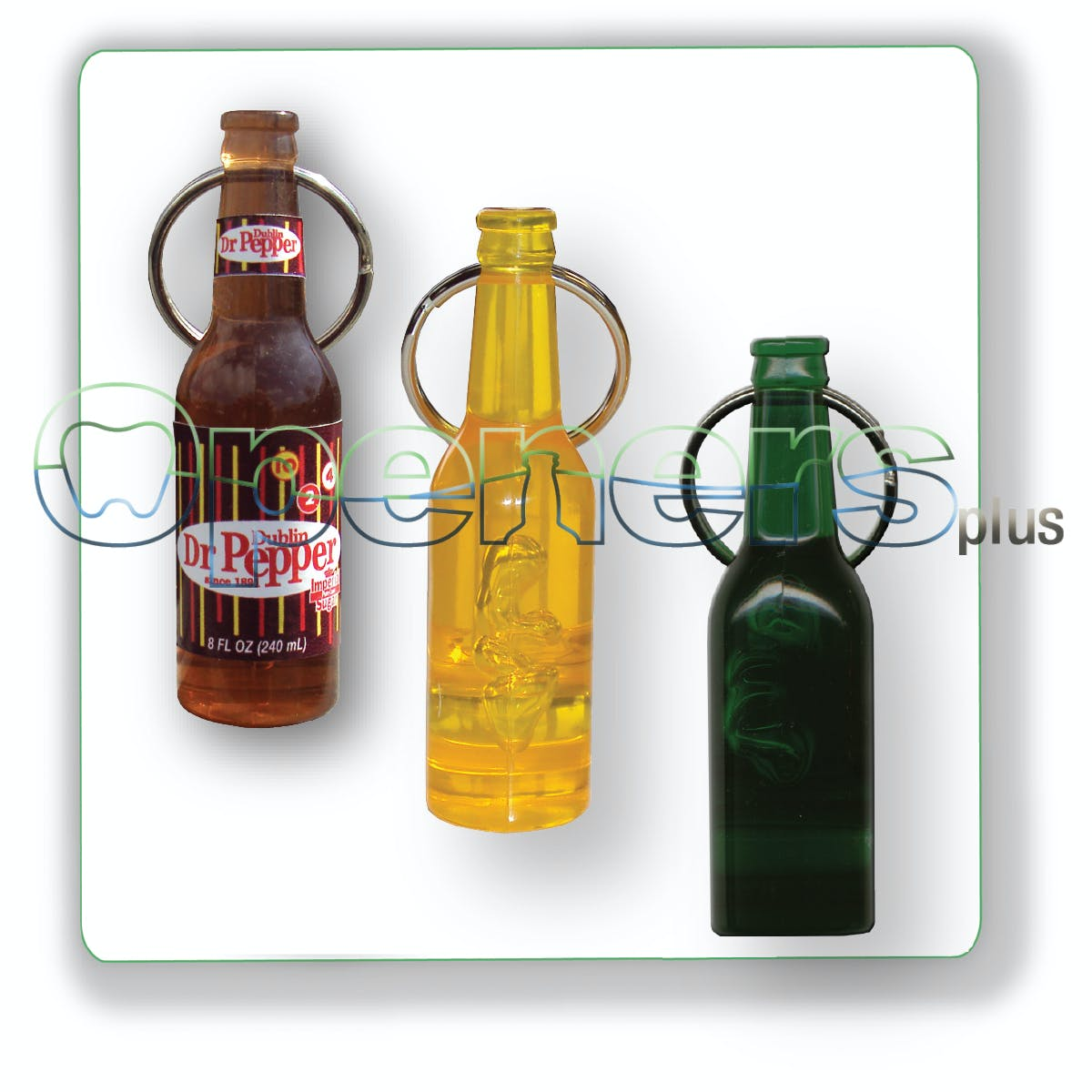 Mini Bottle opener with key ring - sold by Openers Plus