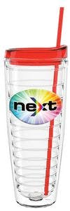 """Shelby"" 16 Oz. Clear Double Wall Tumbler W/Lid & Straw- Made With Tritan Plastic cup sold by Dechan, Inc. II"