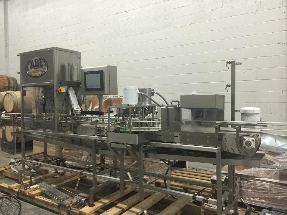 USED ABE LinCan canning line / $90,000 / 60 Cans per minute Can filler sold by East Coast Brew Supply