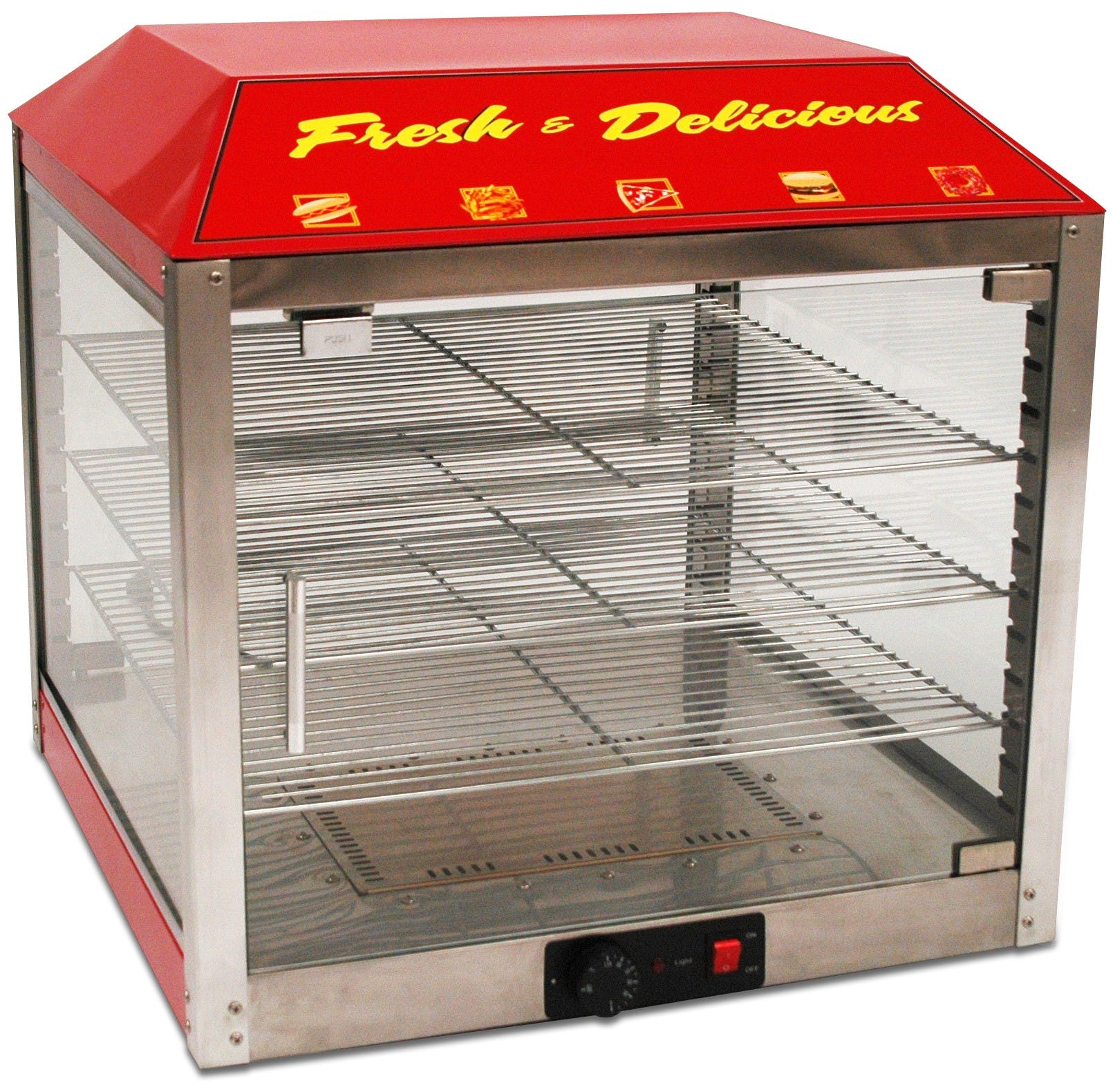 focused product & Benchmark USA 51048 2 Door Warmer/Merchandiser - 18 Inches - Pizza ...