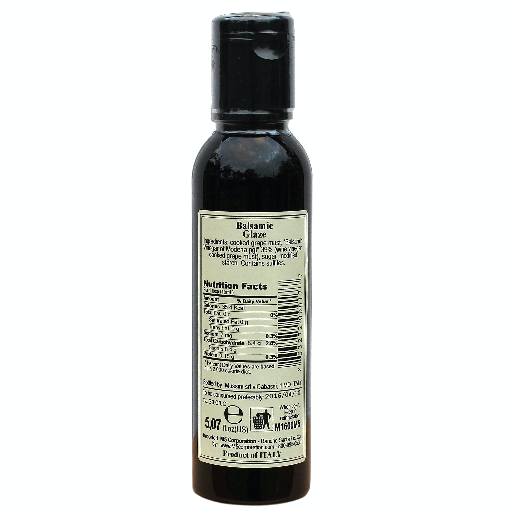 Italian Dark Balsamic Glazes From Mussini, 5.1 Ounces - sold by M5 Corporation