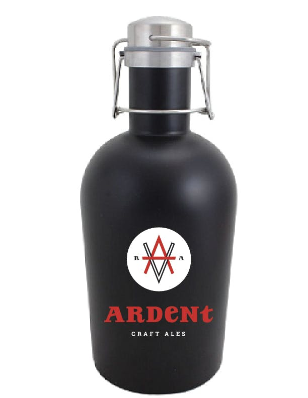 SSG 64MB - 64 oz Matte Black Stainless Steel Beer Growler w/ European Flip Top Growler sold by ARTon Products