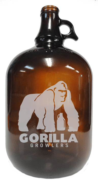 1gal Amber Growler Growler sold by Cascade Graphics