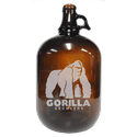 1gal Amber Growler - Growler sold by Cascade Graphics