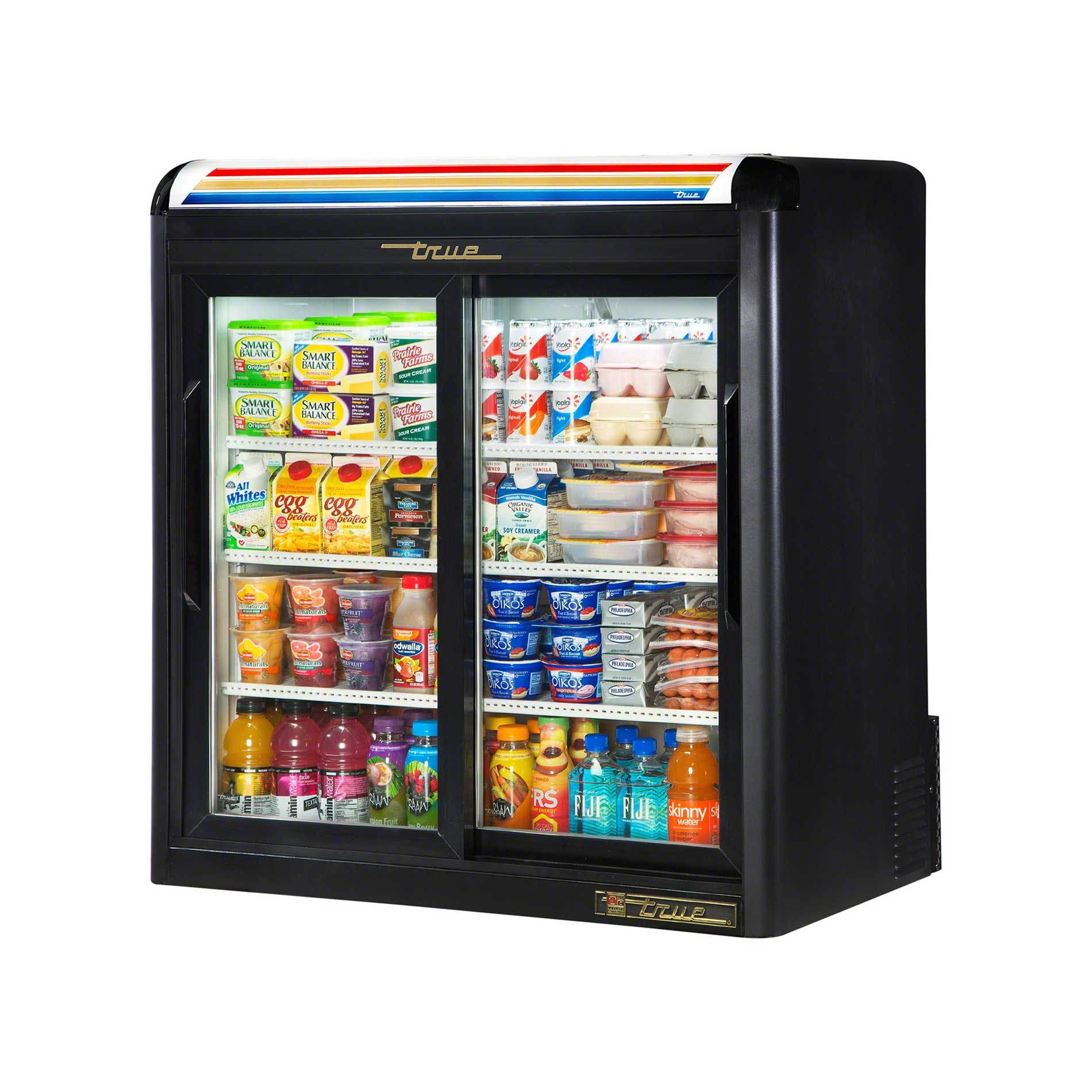 "True - GDM-9-LD 37"" Countertop Glass Door Merchandiser Refrigerator LED Commercial refrigerator sold by Food Service Warehouse"