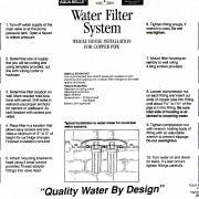Instructions For Whole House Filter - WHOLE HOUSE WATER FILTER DOUBLE UNIT 20? - sold by Aqua Belle Mfg, Co.