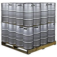 Kegco Pallet of 32 Kegs - 7.75 Gallon Commercial Keg with Drop-In D System Sankey Valve Keg sold by Beverage Factory
