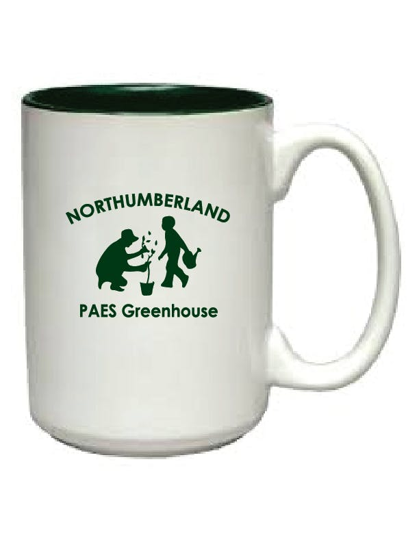 1015-11/02 - Dark Green In, White Out 15 oz El Grande Mug Ceramic mug sold by ARTon Products