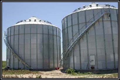 Two 48,000 Bushel Farm Storage Bins Grain bin sold by LCSI Group