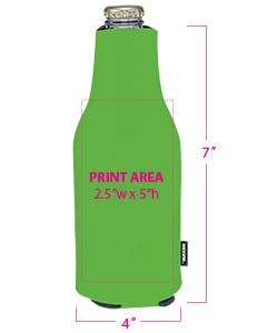 45417 Collapsible Zip-Up Bottle Koozie Koozie sold by Grandstand Glassware and Apparel