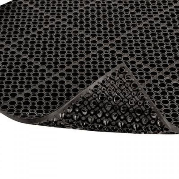 "39"" x 19"" Black Grease-Resistant Floor Mat"