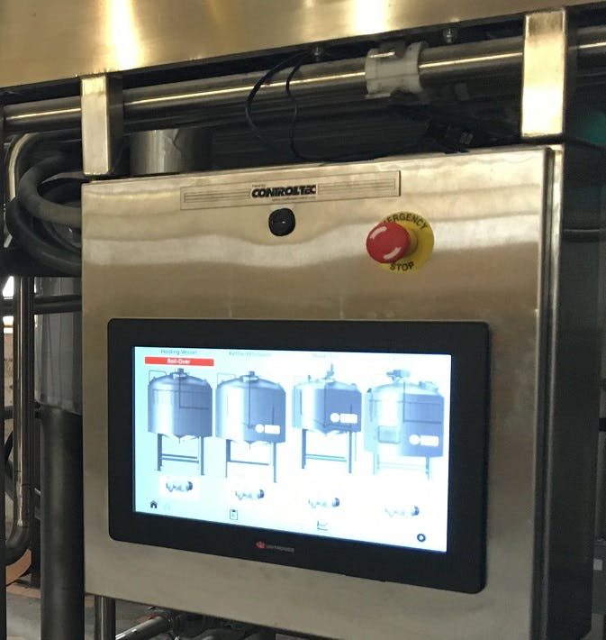 Brewhouse PLC System Control System sold by ControlTec, Inc
