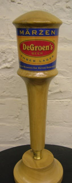 Our first tap handle 1992.  Now a classic. - Natural Wood Tap Handles - sold by Mark Supik & Co.