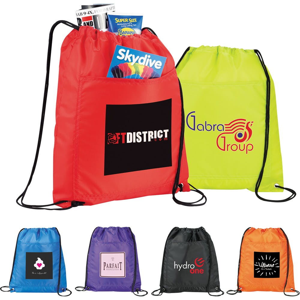 Drawstring Cooler Bag (Item # BFFJM-IBBEH) Insulated cooler sold by InkEasy