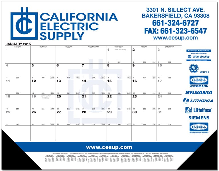 Cal. Desk Pads (Blk Preprinted Calendar) 1 Or 2 Color *new Style* Compare To Bebco B845, B846, B889 Custom calendar sold by Dechan, Inc. II