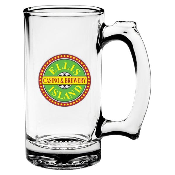 12.5 oz. Thumbprint Glass Tankard Beer glass sold by MicrobrewMarketing.com