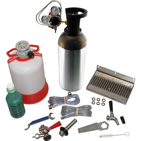 Premium Single Tap Conversion Kit (US Sankey Coupler w/ 10lb CO2 Tank) Kegerator conversion kit sold by KegWorks