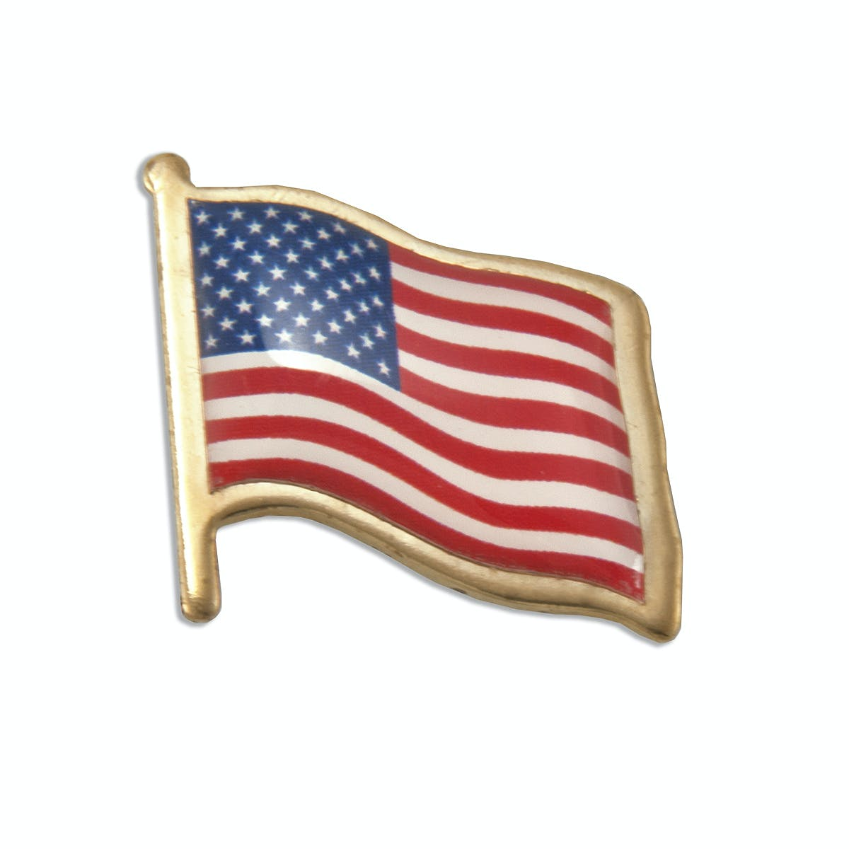 American Flag Lapel Pin (Item # VJMMM-HNUAB) Lapel pin sold by InkEasy