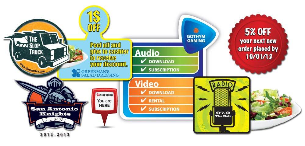 Promotional Stickers Promotional sticker sold by Worldwide Ticket and Label
