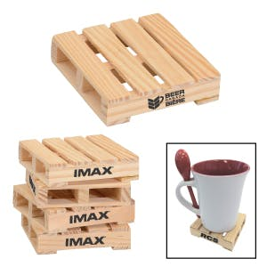 Wooden Pallet Coaster Drink coaster sold by Freedom Branding