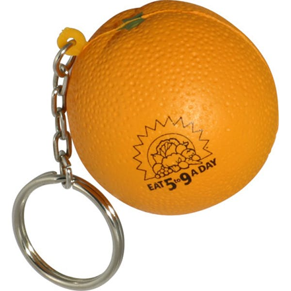 Ariel :: Orange Key Chain - LKC-OR05 Stress reliever sold by Distrimatics, USA