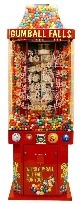 Tracker Gumball Vending Machine Vending machine sold by CandyMachines.com